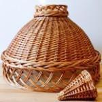 абажур из лозы,плетеный абажур,абажур