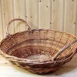 корзина в виде тазика плетеная из лозы
