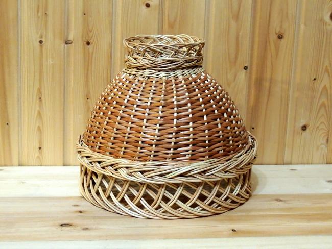 плетеный абажур