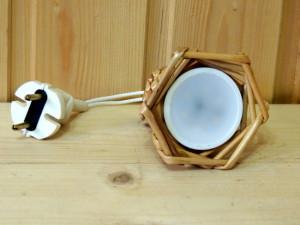 светильник из лозы